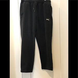 Puma black sweatpants with pockets